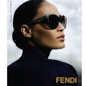 FENDI Cat-eye 57mm Oversized Sunglasses